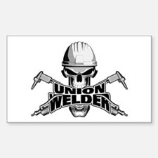 Union Welder Skull Decal
