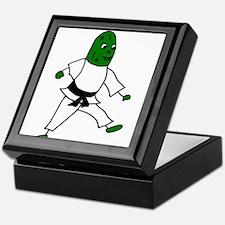 Funny Karate Pickle Art Keepsake Box
