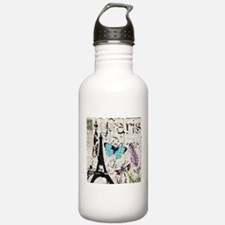 Floral butterfly pari Water Bottle