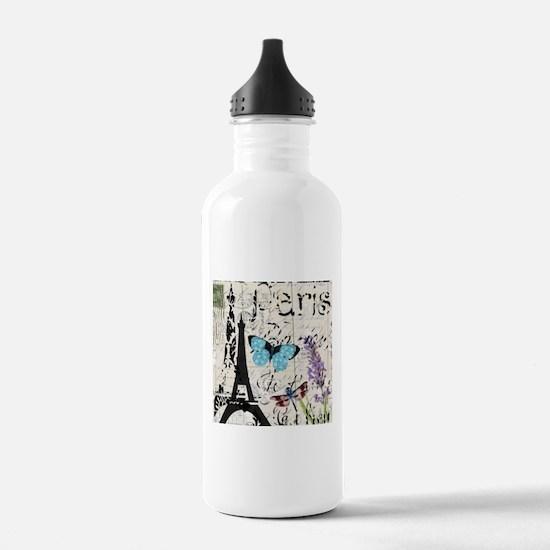 Floral butterfly pari Water Bottle