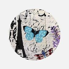 """Floral butterfly paris Eif 3.5"""" Button (100 pack)"""