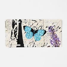 Floral butterfly paris Eif Aluminum License Plate