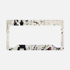 Floral butterfly paris Eiffe License Plate Holder