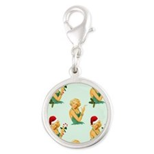 vintage pin up christmas Charms