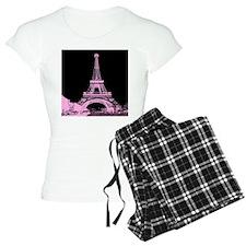 pink paris eiffel tower Pajamas
