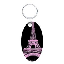 pink paris eiffel tower Keychains
