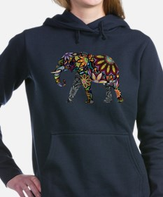 Cute Elephant Women's Hooded Sweatshirt