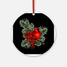 CARDINAL/PINE Round Ornament