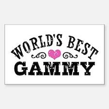 World's Best Gammy Sticker (Rectangle)