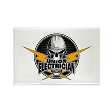 Union Electrician Skull Magnets