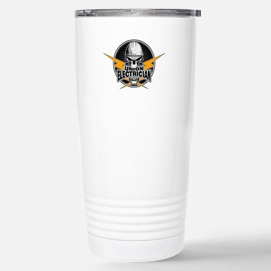 Union Electrician Skull Travel Mug