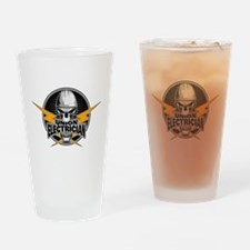 Union Electrician Skull Drinking Glass