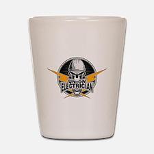 Union Electrician Skull Shot Glass