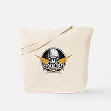 Union Electrician Skull Tote Bag