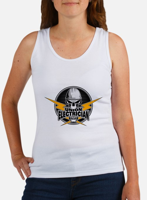 Union Electrician Skull Tank Top