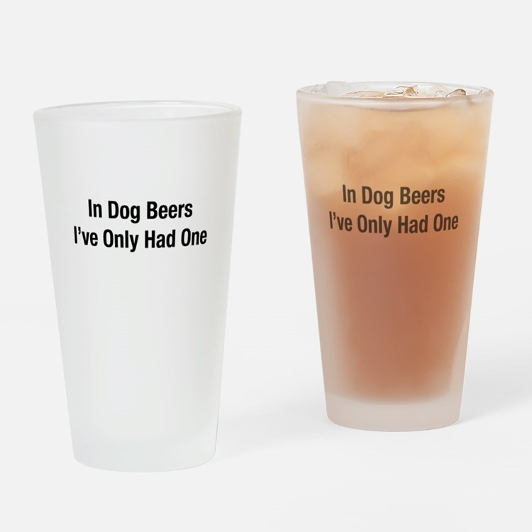 Cute Cool beer Drinking Glass