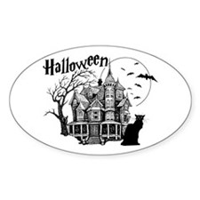 Haunted House Oval Decal