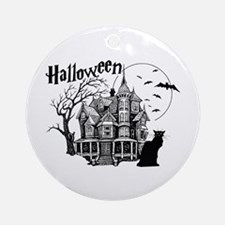 Haunted House Ornament (Round)