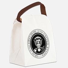 Cute Bill clinton Canvas Lunch Bag