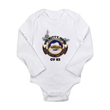 Unique Uss john f kennedy Long Sleeve Infant Bodysuit