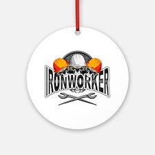 Ironworker Skulls Round Ornament