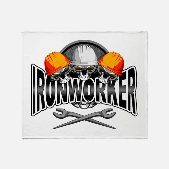 Ironworker Skulls Throw Blanket