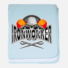 Ironworker Skulls baby blanket