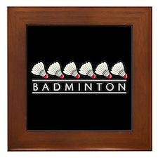 Badminton Framed Tile