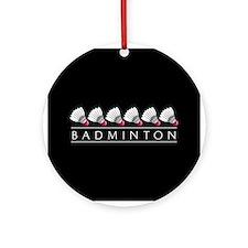 Badminton Ornament (Round)