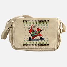 Santa Rockin' Ugly Messenger Bag