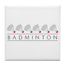 Badminton Tile Coaster