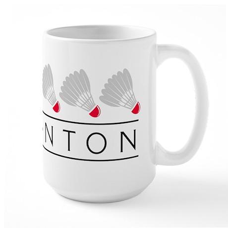 Badminton Large Mug