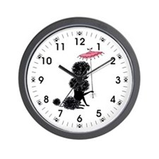 Pretty Polly Poodle - Wall Clock
