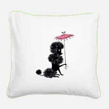 Pretty Polly Poodle - Square Canvas Pillow