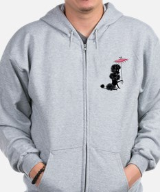 Pretty Polly Poodle - Zip Hoodie