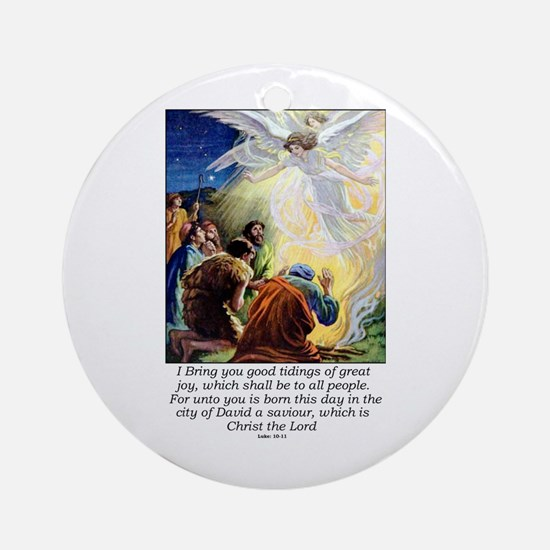 Angel Tidings of Great Joy Round Ornament
