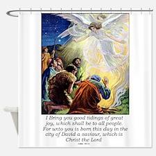 Angel Tidings of Great Joy Shower Curtain
