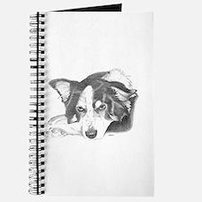 Collie Dog Sketch Journal