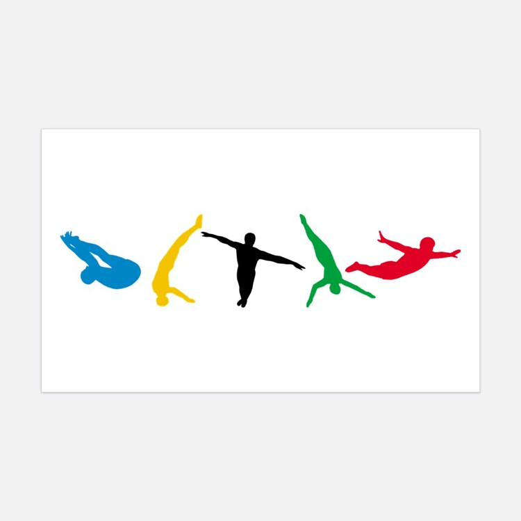Diving Wall Decal
