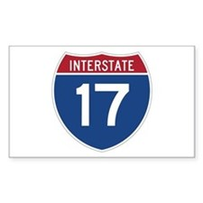 Interstate 17 Rectangle Decal