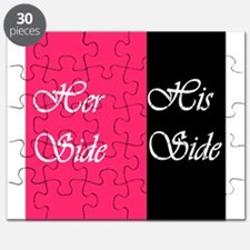 Her Side: His Side Pink/blk Puzzle