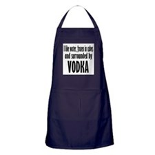 vodka humor Apron (dark)