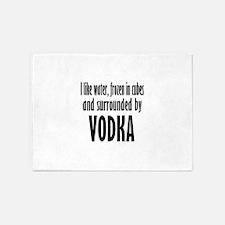 vodka humor 5'x7'Area Rug