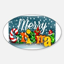 Colorful Merry Christmas Decal