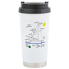 Funny Marine christmas Travel Mug