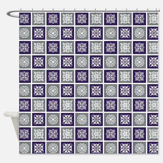 BOHO TILE Shower Curtain