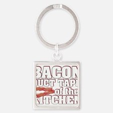 Cute Bacon Square Keychain