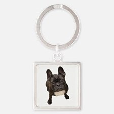 Unique French bull dogs Square Keychain