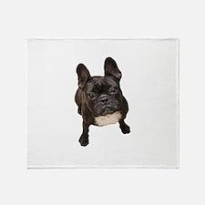 Cute English bull dogs Throw Blanket