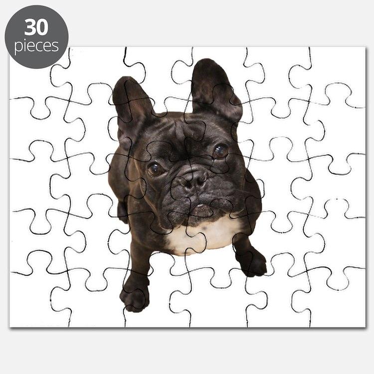 Cute French bulldog dogs bat ears Puzzle